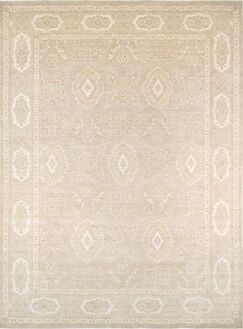 Ferehan Hand-Knotted Silver Area Rug