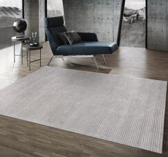 Edgy Hand Tufted Wool Gray Area Rug Rug Size: Rectangle 9' 9
