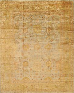 Oushak Hand-Knotted Wool Brown Area Rug Rug Size: Rectangle 4'1