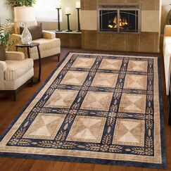 Tibetan Hand-Knotted Wool Beige/Black Area Rug Rug Size: Rectangle 9' x 12'2