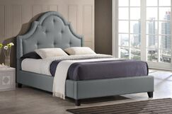 Baxton Studio Upholstered Platform Bed Size: Full, Color: Gray