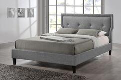 Marquesa Upholstered Platform Bed Color: Grey, Size: Full