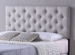 Viviana Upholstered Panel Headboard Upholstery: Gray, Size: Queen