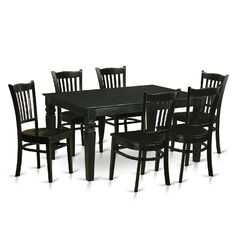 Weston 7 Piece Solid Wood Dining Set
