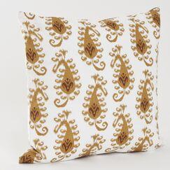 Ikat Cotton Throw Pillow