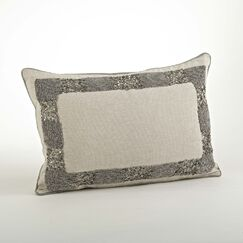 The Posh Beaded Cotton Throw Pillow