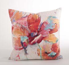 Flower Market Floral Design Throw Pillow