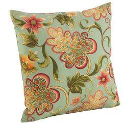 Flowering Vine Indoor/Outdoor Throw Pillow Color: Turquoise, Size: 17