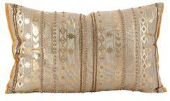 Prescot Beaded Metallic Cotton Throw Pillow