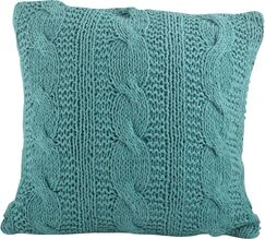 McKenna Cable Knit Cotton Throw Pillow Color: Turquoise