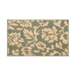 Jaya Bennet Green/Beige Indoor/Outdoor Area Rug Rug Size: 4' x 6'