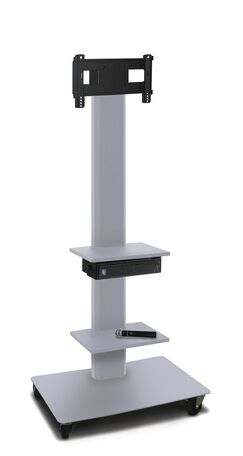 Vizion TV Floor Stand Mount Plasma Finish: Silver