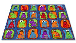 Cute Little Creatures Seating Kids Rug Rug Size: 7'6