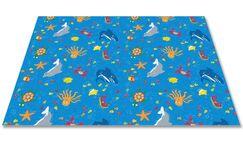 Ocean Friends Area Rug Rug Size: Rectangle 6' x 12'