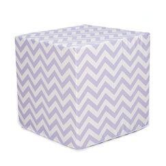 Swizzle Decorative Cube Ottoman Upholstery: Lavender