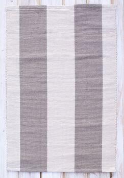 Montauk Gray/Natural Stripe Rug Rug Size: Rectangle 2' x 3'