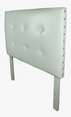 Classic Twin Upholstered Panel Headboard Upholstery: White