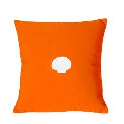 Mirabal Scallop Indoor/Outdoor Sunbrella Throw Pillow Color: Melon, Size: 12