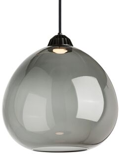 1-Light Pendant Shade Color: Transparent Smoke, Bulb Type: 90 CRI 3000K 120V LED, Size: 16.80