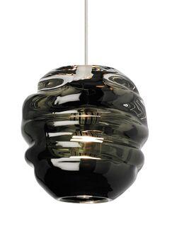 Audra 1-Light Globe Pendant Finish: Black, Shade Color: Smoke