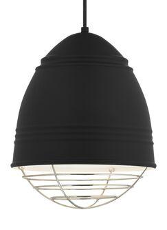 Rider 1-Light Novelty Pendant Bulb Type: A19 LED 90 CRI 2700K 120V (T20/T24), Shade Color: No Cage, Finish: Rubberized Black/White Interior