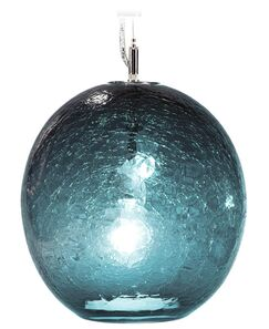 Boa Solaris 1-Light Pendant Shade Color: Steel Blue, Finish: Nickel with White Wire