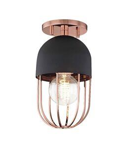 Galien 1-Light Semi Flush Mount Fixture Finish: Polished Copper