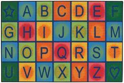 Simple Alphabet Blocks Kids Rug Rug Size: 3' x 4'6