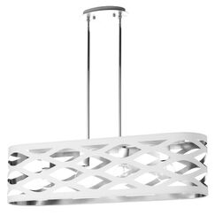 Countess 4-Light Kitchen Island Pendant Finish: White/Silver