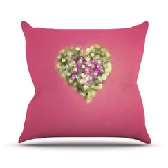 Make Your Love Sparkle by Beth Engel Throw Pillow Size: 16'' H x 16'' W x 1