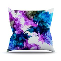Utopia by Claire Day Throw Pillow Size: 26'' H x 26'' W x 1