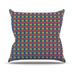Delilah by Empire Ruhl Pattern Throw Pillow Size: 18'' H x 18'' W x 1