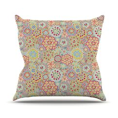 My Happy Flowers by Julia Grifol Throw Pillow Size: 26