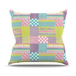 Patchwork Throw Pillow Size: 18
