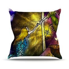 Fairy Tale Off To Neverland Throw Pillow Size: 20