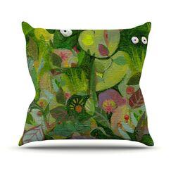 Jungle Outdoor Throw Pillow Size: 18