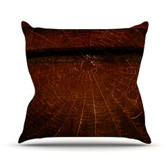 Dark Web by Robin Dickinson Throw Pillow Size: 16