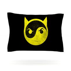 Bat Yin by Frederic Levy-Hadida Featherweight Pillow Sham Size: King, Fabric: Cotton