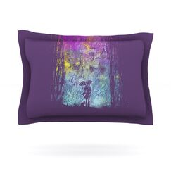 Purple Rain by Frederic Levy-Hadida Featherweight Pillow Sham Size: Queen, Fabric: Cotton