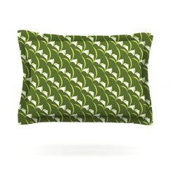 Deco Calla Lily by Holly Helgeson Featherweight Pillow Sham Size: King, Fabric: Cotton