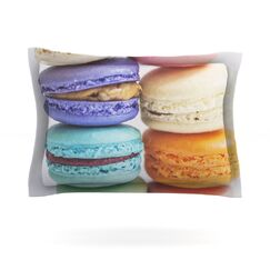 I Want Macaroons by Libertad Leal Featherweight Pillow Sham Size: King, Fabric: Cotton