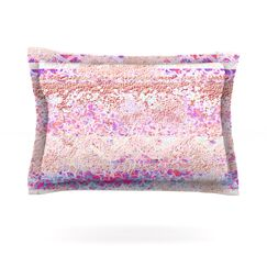 Broken Pattern by Marianna Tankelevich Featherweight Pillow Sham Size: King, Fabric: Cotton
