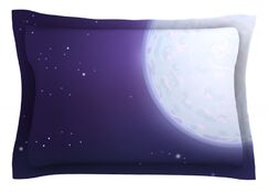 Full Moon by Fotios Pavlopoulos Featherweight Pillow Sham Size: King, Fabric: Cotton
