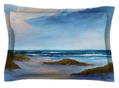 Wet Sand by Rosie Brown Featherweight Pillow Sham Size: King, Fabric: Cotton