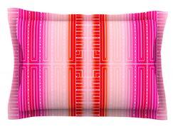 Deco City Blush by Nina May Featherweight Pillow Sham Size: King, Fabric: Cotton
