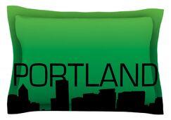 Portland Featherweight Pillow Sham Size: Queen, Fabric: Cotton