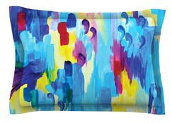Don't Quote Me, Revisited by Ebi Emporium Featherweight Pillow Sham Size: Queen, Fabric: Cotton