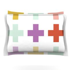 Mint Orchid Plus by Pellerina Design Featherweight Pillow Sham Size: King, Fabric: Cotton