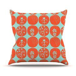Dotty Papercut by Anneline Sophia Throw Pillow Size: 16'' H x 16'' W x 1
