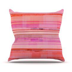 Starwberry Shortcake Stripes Throw Pillow Size: 20'' H x 20'' W x 1